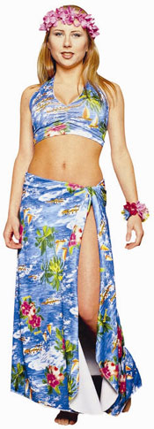 Adult Hawaiian Lady Costume