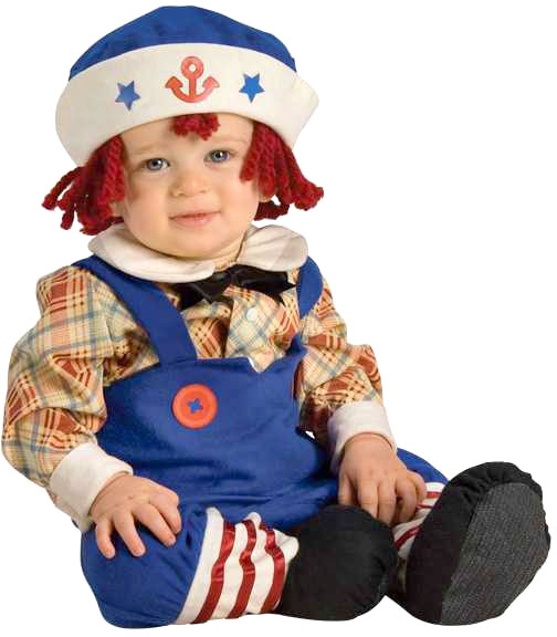 Infant Baby Boy Rag Doll Costume