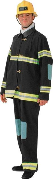 Deluxe Fireman Theater Plus Size Costume