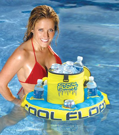 Inflatable 10 Quart Floating Cooler