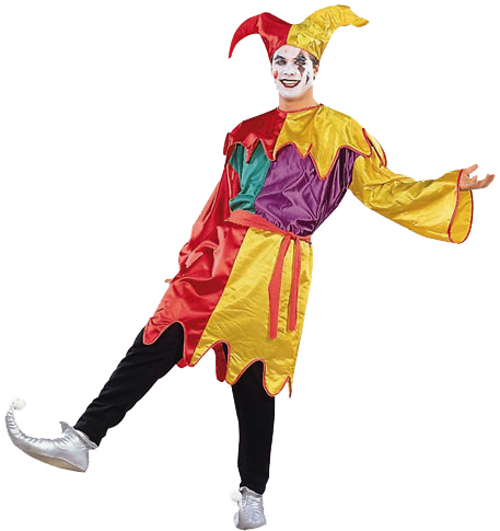 Adult Satin Jester Costume