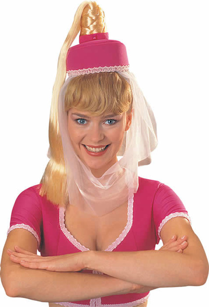 I Dream of Jeannie Costume Hat with Hair