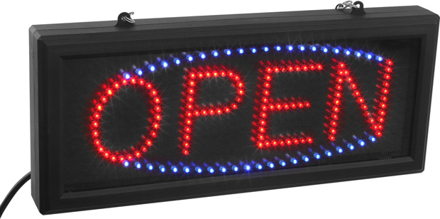 Small LED OPEN Sign