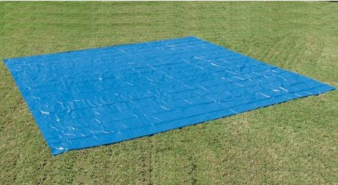 Square Ground Cloth for 24 ft Above Ground Pools