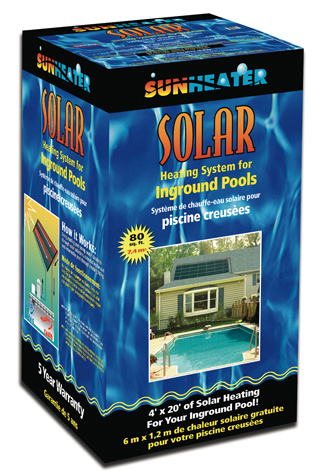 In-ground Pool 80 Sq Ft Solar Heating System