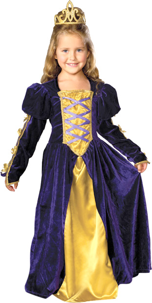 Child's Regal Princess Renaissance Costume