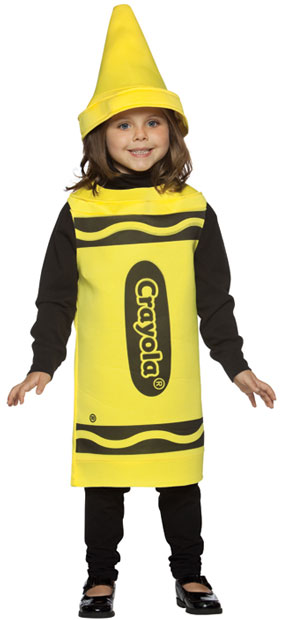 Child's Yellow Crayola Costume
