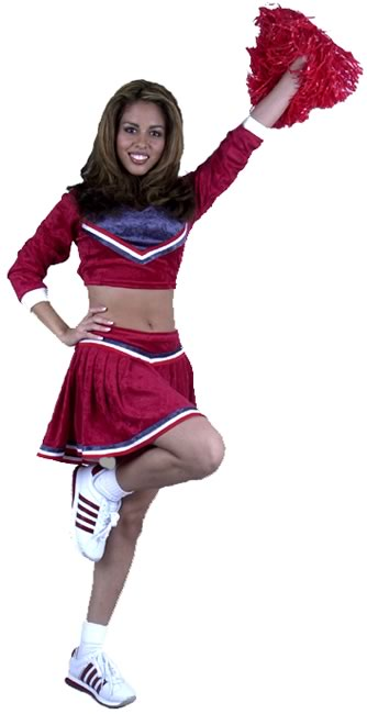 Adult Crop Top Cheerleader Costume