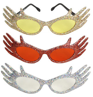 Glitter Hands Costume Glasses