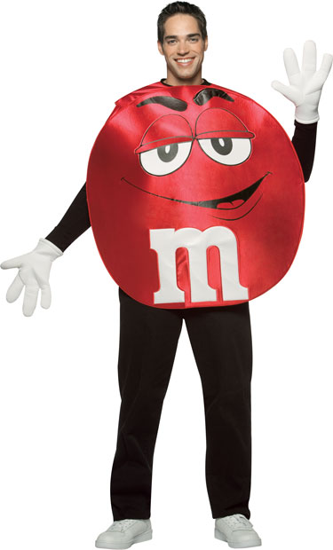 Adult M&M Red Poncho Costume