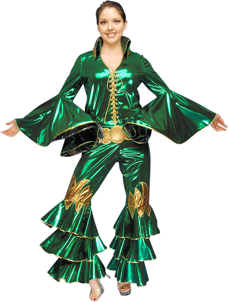 Deluxe Green Abba Costume