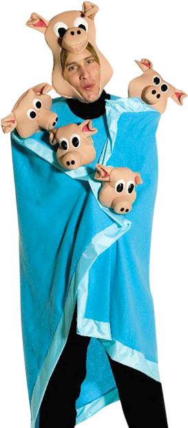 Adult Pigs in A Blanket Costume
