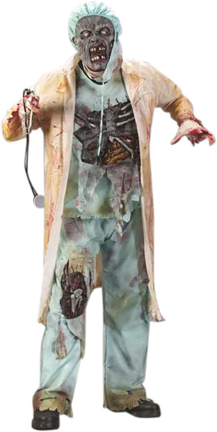 Teen Zombie Doctor Costume