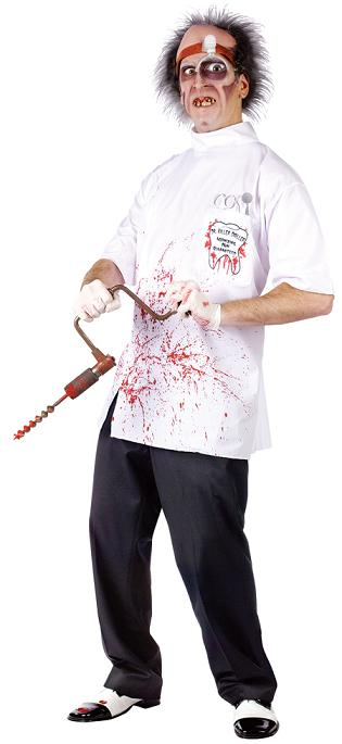 Evil Dentist Killer Driller Costume