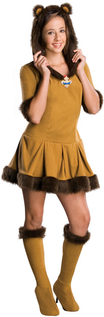 Preteen Size Wizard Of Oz Cowardly Lion Costume