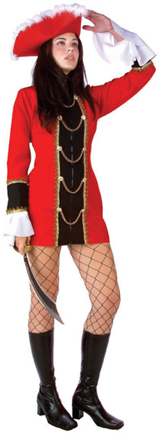 Sexy Captain Treasure Pirate Costume