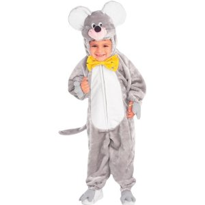 Child's Plush Grey Mouse Costume