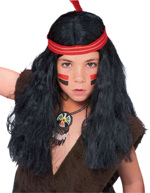 Deluxe Indian Boy Costume Wig