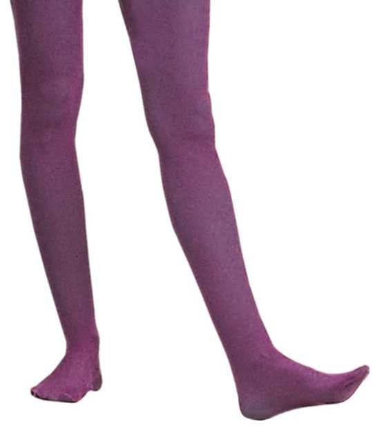 Adult Solid Purple Nylon Tights