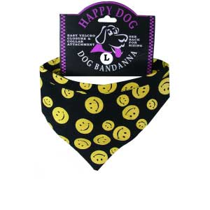 Smiley Happy Face Dog Bandanas