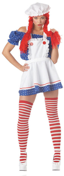 Sexy Ruffled Rag Doll Girl Costume