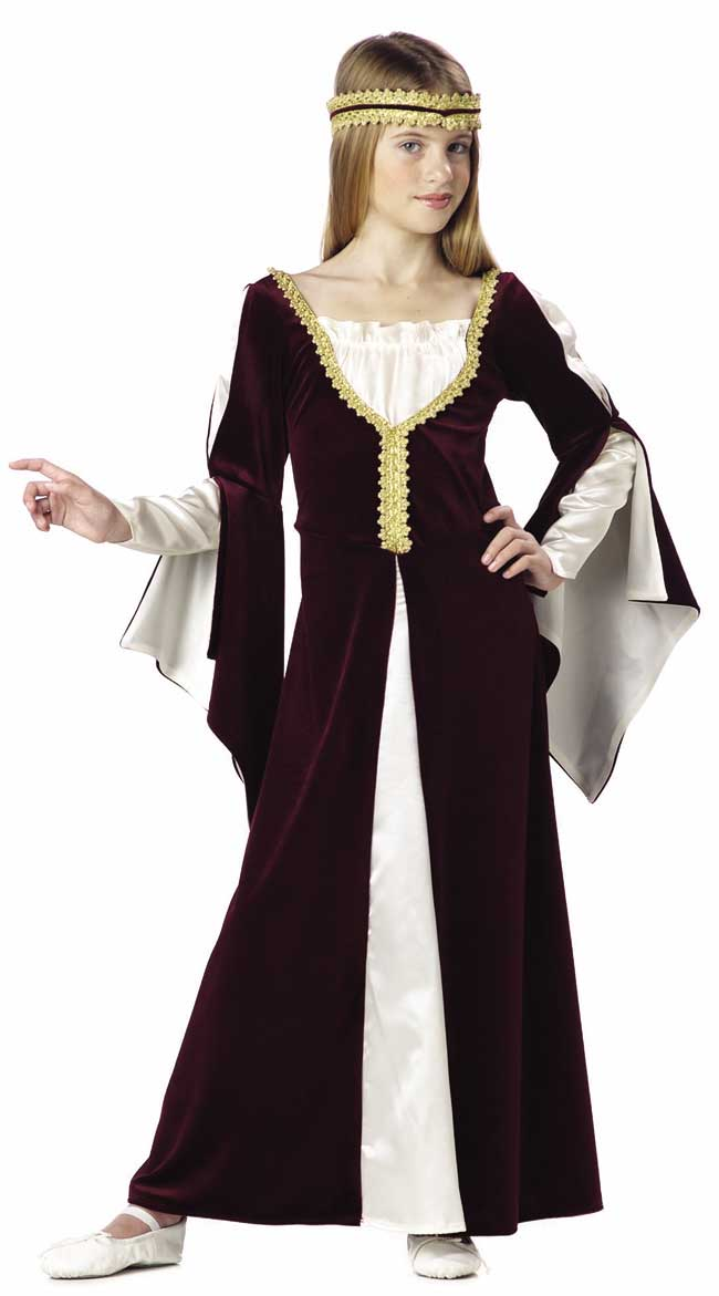 Child's Wine Regal Princess Costume