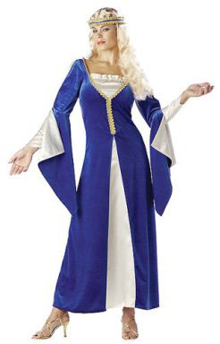 Adult Blue Regal Princess Costume