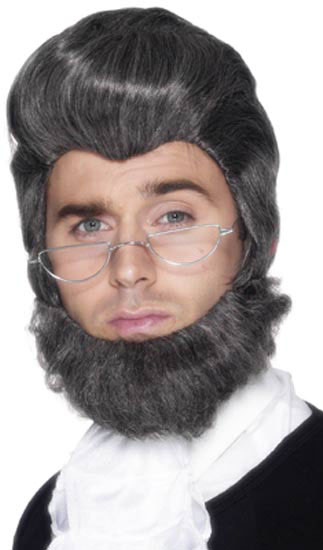 Abe Lincoln Costume Wig and Beard Set