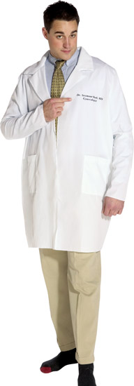 Dr. Seymour Bush Gynecologist Lab Coat Costume