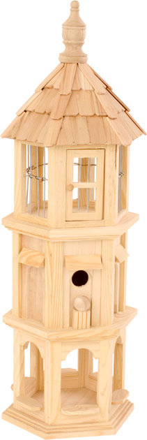 Dove Wooden Bird House Feeder
