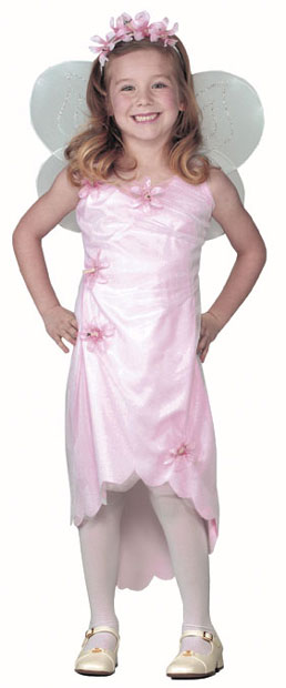 Child's Pink Flower Fairy Costume