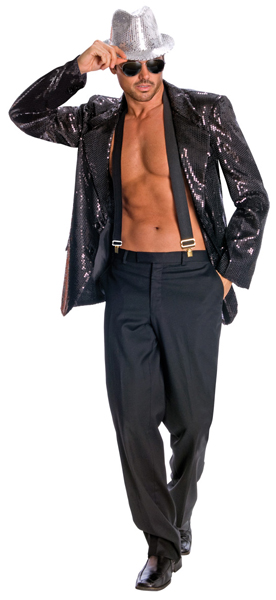 Men's Sequin Costume Jacket