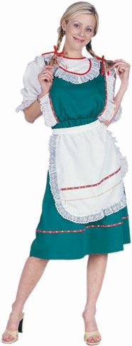 Adult Green Bavarian Dress Costume