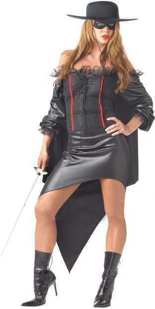 Womanu0027s Plus Size Zorro Girl Costume  sc 1 st  Brands On Sale : women zorro costume  - Germanpascual.Com