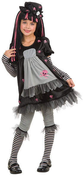 Child Gothic Raggedy Doll Costume