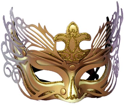 Gold And Silver Detail Venetian Mask