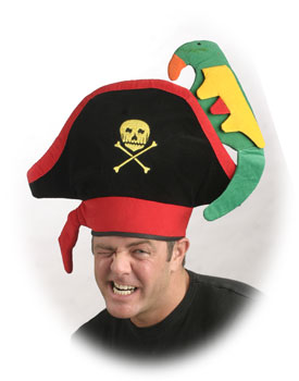 Adult Pirate Hat w/ Parrot