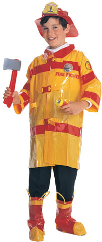 Child's Cheap Firefighter Costume