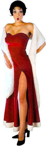 Adult Betty Boop Evening Gown Costume