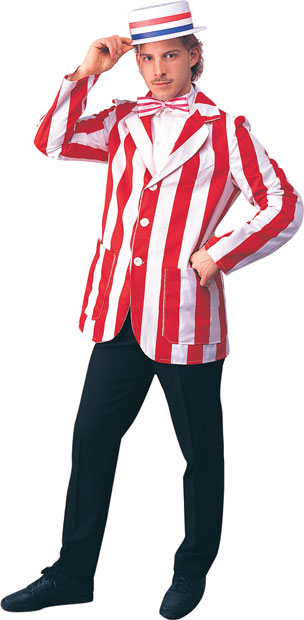 Adult Barber Shop Quartet Costume Blazer