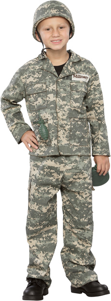 Child's Deluxe Army Man Costume