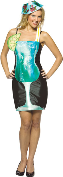 Adult Blue Hawaiian Drink Costume