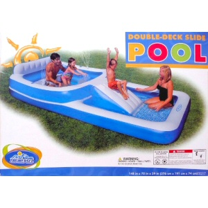 Double-Deck Slide Pool