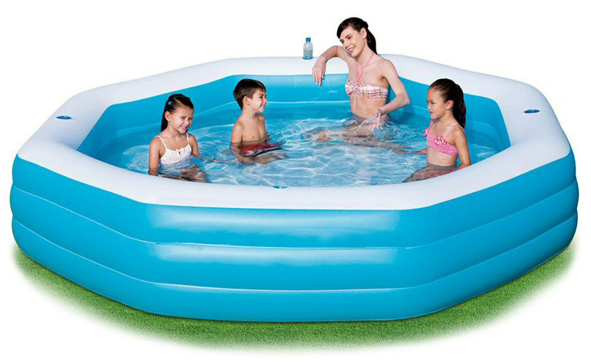 Deluxe Inflatable Octagon 10 Ft Famliy Pool
