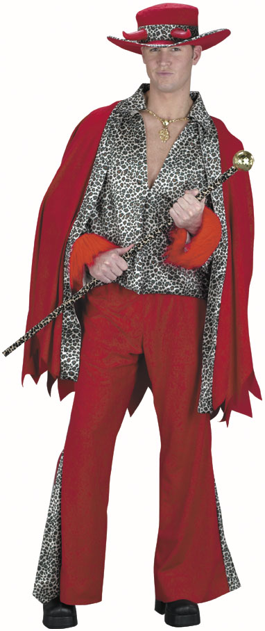 Adult Red Leopard Pimp Daddy Costume
