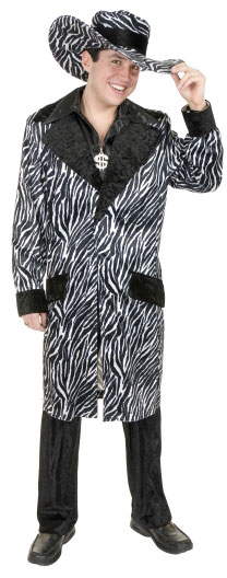 Adult Long Zebra Pimp Suit Costume