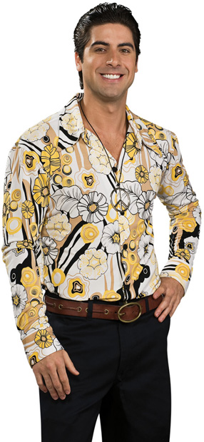 Adult 70s Groovy Costume Shirt