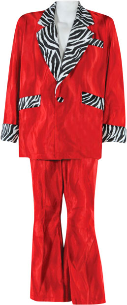 High Quality Red Pimp Suit Costume