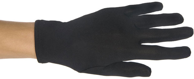 Black Polyester Costume Gloves