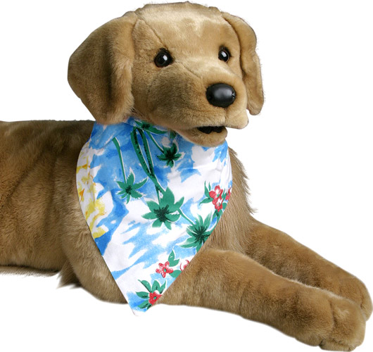 Hawaiian Blue Dog Bandanas